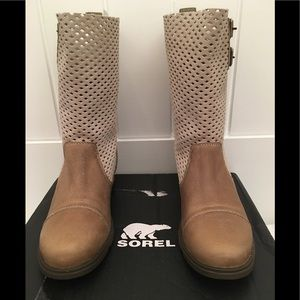 SOREL Major Pull-on Leather/Suede Boots Tan Sz 8